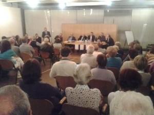 - Una delle ultime riunioni con la popolazone Val del Chiese) - presente Luciano Flor che garantiva anzi potenziamenti dei reparti.