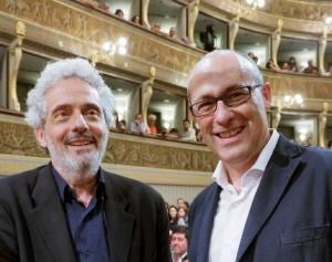 Il maestro Nicola Piovani e il Presidente prov. di Trento Ugo Rossi