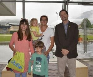 - La famiglia 500 mila allingresso del Muse con il direttore Michele Lanzingher