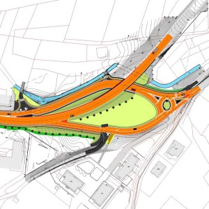 Svincolo Padergnone. Infrastrutture. - Il progetto prevede il riordino dell'attuale confluenza della strada provinciale SP84