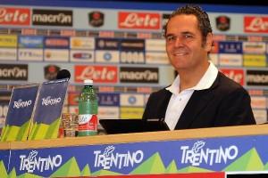 - Alessandro Formisano dell'SSC Napoli sul tema abbonamenti. (Foto Italo Cuomo)
